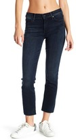 Mother The Rascal Cropped Raw-Edge Straight Leg Jeans