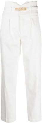 Pinko Logo-Plaque Cropped Jeans