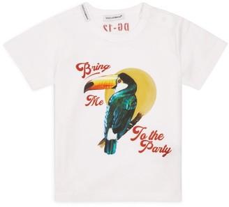 Dolce & Gabbana Kids Cotton Pelican Print T-Shirt (3-30 Months)
