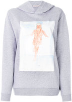 Christopher Kane watercolour paint print hoodie - women - Cotton - XS