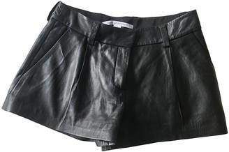 Diane von Furstenberg Black Leather Shorts