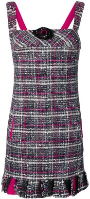 Chanel Pre Owned 2007's Checked Tweed Dress
