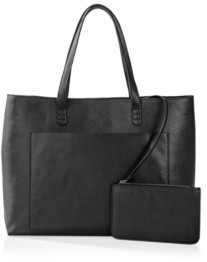 Cathy's Concepts Vegan Saffiano Leather Tote And Clutch Set