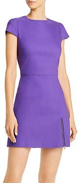 Alice + Olivia Maya Zip Detail Mini Dress