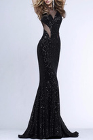 Faviana Long Black Gown