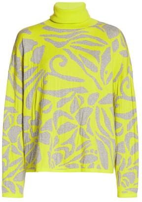 Tanya Taylor Jessie Floral Knit Turtleneck