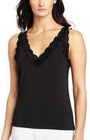 Cinema Etoile Women's Lace-Trim V-Neck Camisole