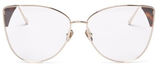 Linda Farrow Ida Cat-eye 18kt Gold-plated Glasses - Tortoiseshell