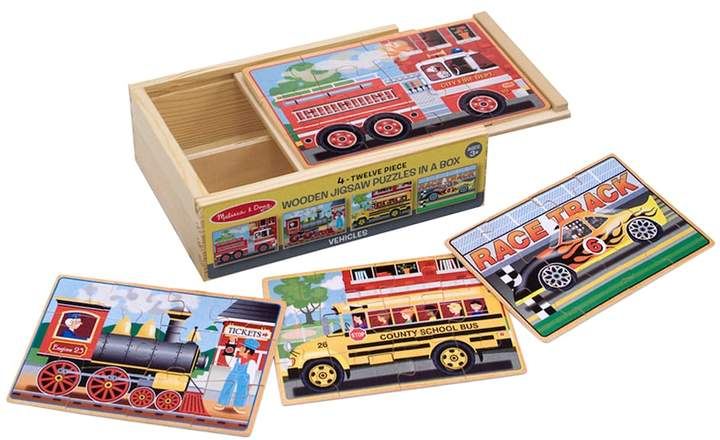Melissa & Doug Vehicles Jigsaw Puzzles in a Box Set