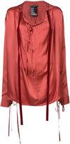 Ann Demeulemeester oversized long sleeve top - women - Silk - 34