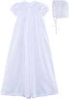 Kissy Kissy White Hand Embroidered Christening Gown and Bonnet