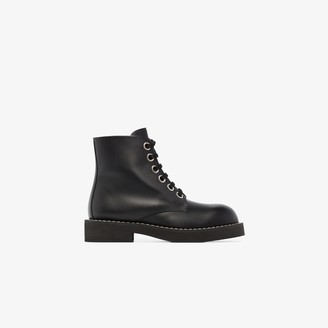 Marni Black Lace-Up Leather Boots