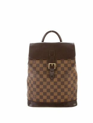 Louis Vuitton Damier Ebene Soho Backpack brown