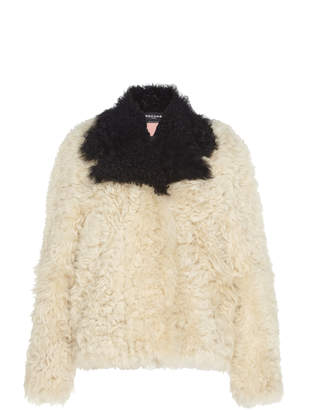 Rochas Kalgan Contrast Shearling Coat Size: 40