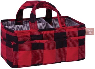 Trend Lab Red and Black Buffalo Check Storage Caddy