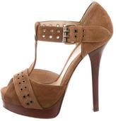 Fendi Suede T-Strap Sandals