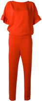 P.A.R.O.S.H. ruffle sleeve jumpsuit - women - Polyester - S