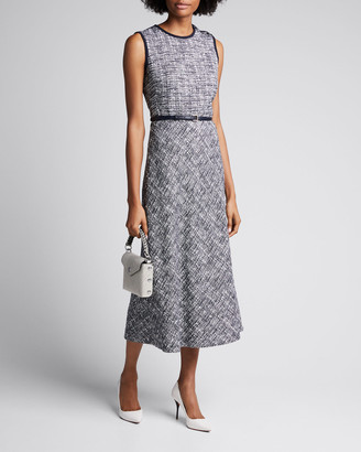 Max Mara Spadino Sleeveless Tweed Dress
