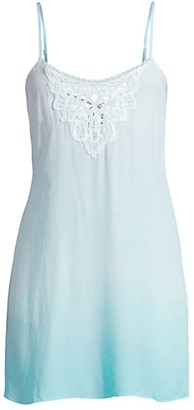 In Bloom Allison Crochet Ombre Chemise