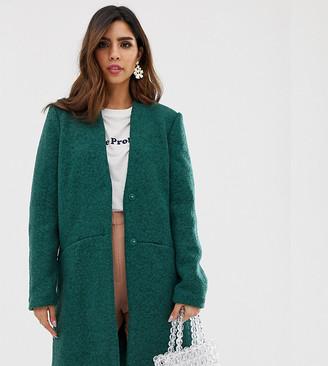 Vila wool boucle coat-Green