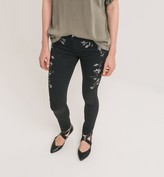 Promod Skinny embroidered trousers