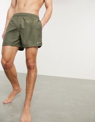 Nike Swimming 5inch Volley shorts in khaki