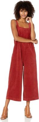 Volcom Women's Oh My Cord Wide Leg Crop Jumpsuit
