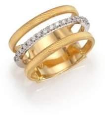 Marco Bicego Masai Diamond, 18K Yellow Gold& 18K White Gold Ring