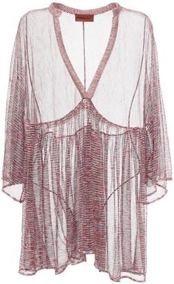Missoni Lurex Sheer Knit Caftan Mini Dress