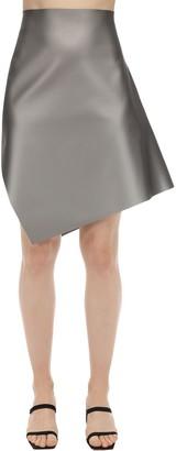 Coperni Asymmetric Techno Jersey Mini Skirt