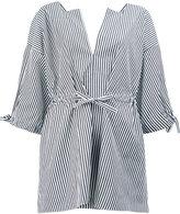 Maison Rabih Kayrouz striped split neck blouse
