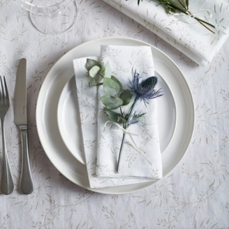 The White Company Floral Napkins - Set of 4, White, One Size