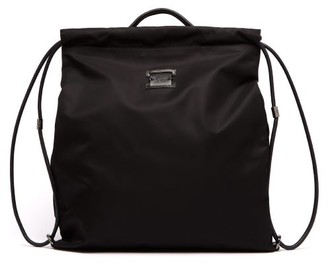 Christian Louboutin Kaloubi Leather Trimmed Nylon Backpack - Mens - Black