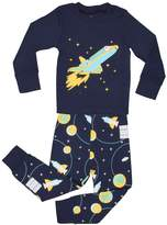 "Elowel Pajamas Elowel Little Boys ""Space Rocket"" 2 Piece Pajama Set 100% Cotton"
