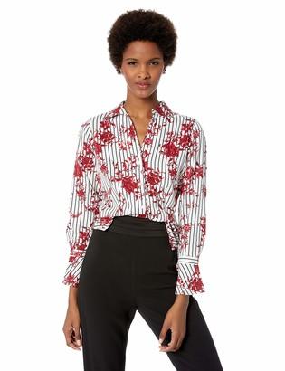 Foxcroft Women's Ellery Floral Stripe Blouse
