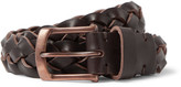 Oliver Spencer 3cm Brown Woven Leather Belt