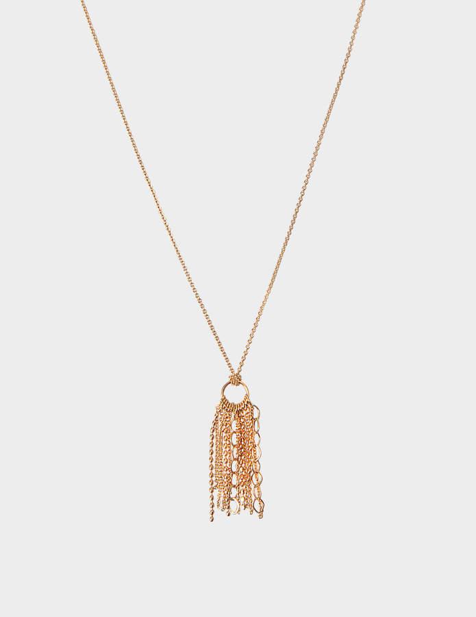 ginette_ny Diamond Ever Square 18-karat rose gold necklace