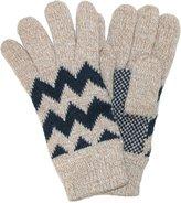 CTM® Men's Fleece Lined Knit Gloves with Zig Zag