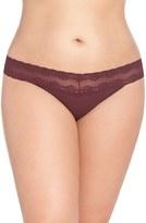 Natori 'Bliss Perfection' Thong (Plus Size)