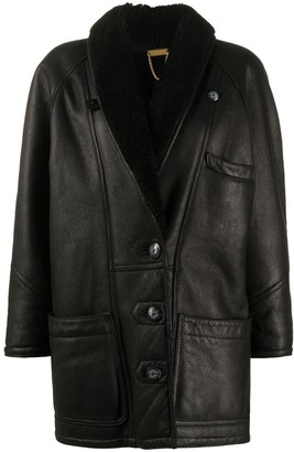 A.N.G.E.L.O. Vintage Cult 1980s Single-Breasted Shearling Coat