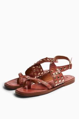 Topshop PARADISE Blush Pink Leather Sandals