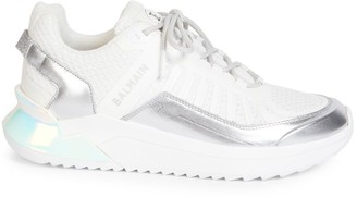 Balmain B Trail Metallic Logo Sneakers
