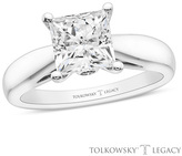 Zales Tolkowsky® Legacy 2 CT. T.W. Certified Princess-Cut Diamond Solitaire Engagement Ring in 14K White Gold (I/SI2)