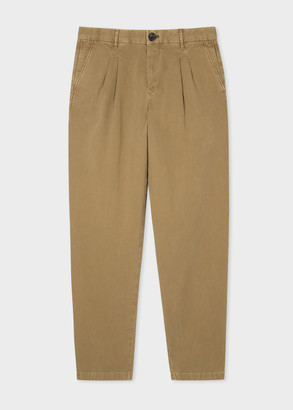 Paul Smith Men's Sand Double-Pleat Chinos