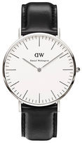 Daniel Wellington Classic Sheffield Stainless Steel and Leather Strap Watch, 40mm