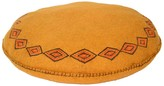 Karma Living Felt Embroidery Seater Cushion - Yellow - 13 Diameter