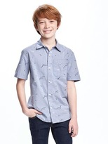 Old Navy Classic Printed Shirt for Boys