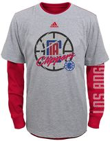 adidas Boys 8-20 Los Angeles Clippers Cage Option Combo Tee Set