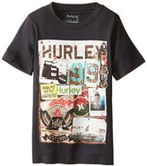 Hurley Big Boys' Woodblock Boys Short Sleeve Tee