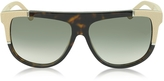 Balenciaga BA0025 Acetate Shield Women's Sunglasses w/Rubber Details